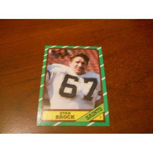1986 Topps Football Card 343 Stan Brock Colorado New Orleans Saints