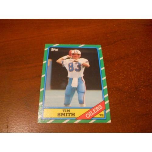 1986 Topps Football Card 355 Tim Smith Nebraska Houston Oilers Hi Grade Centered