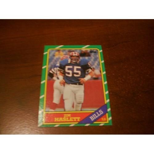 1986 Topps Football Card 392 Jim Haslett Indiana Buffalo Bills Saints Redskins