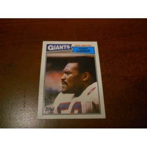 1987 Topps Football Card 25 Harry Carson South Carolina New York Giants HOF