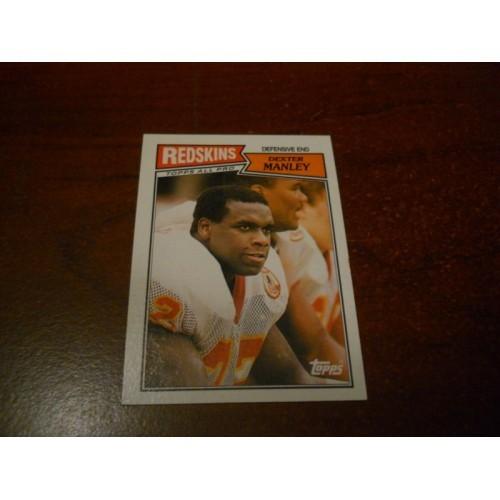 1987 Topps Football Card 76 Dexter Manley Oklahoma State Washington Redskins
