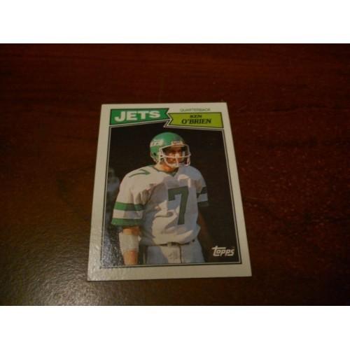 1987 Topps Football Card 127 Ken O'Brien California Davis New York Jets
