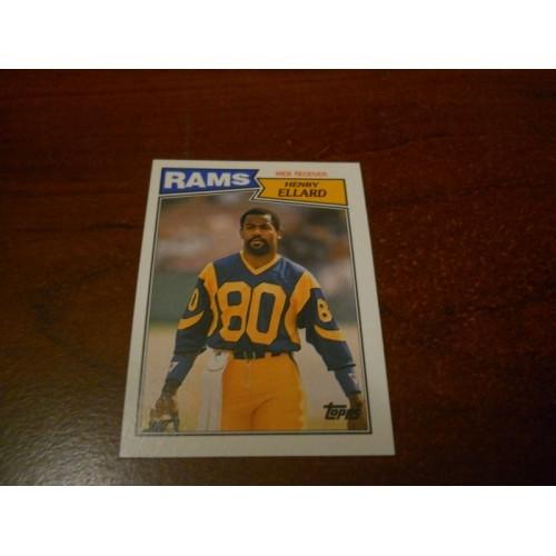 1987 Topps Football Card 150 Henry Ellard Fresno State Los Angeles Rams