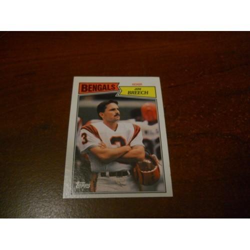 1987 Topps Football Card 191 Jim Breech California Cincinnati Bengals