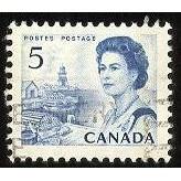 Canada 458p E. II Centennial 5c Tagged Side Bars CV = 0.20$