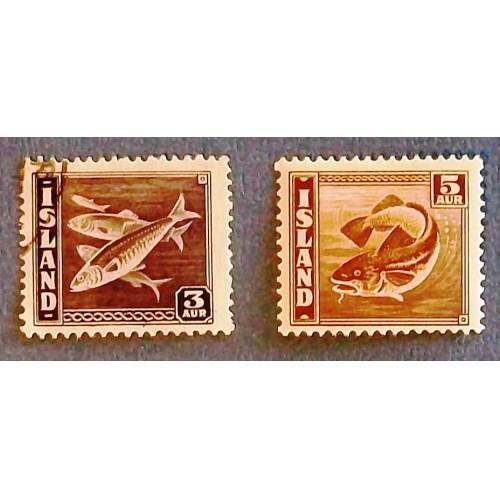"1039  Iceland  ""Codfish/Herring""  Stamps"