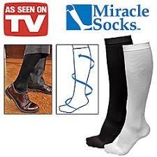 Miracle Socks Anti-Fatigue Compression Socks, Unisex  White Large/Xlarge