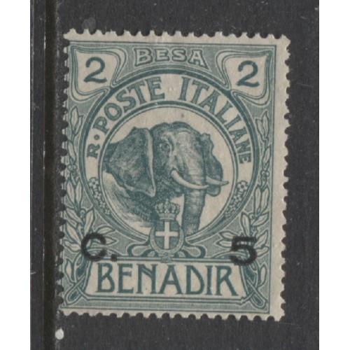 1906 Italian colonies SOMALIA  5 c. on 2 b. Elephant unused, Scott # 11