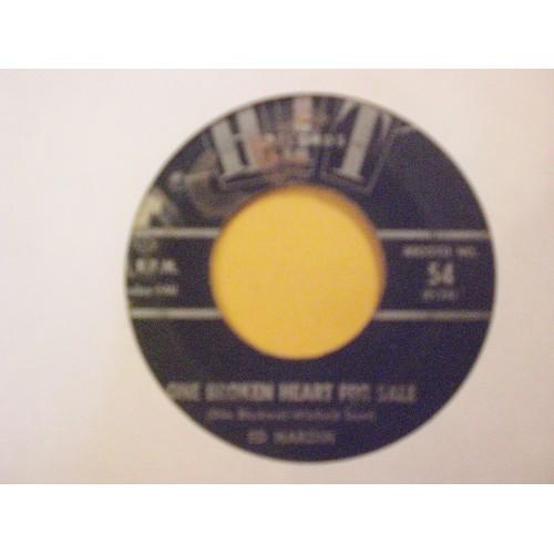 45 RPM: #4923.. ED HARDIN - ONE BROKEN HEART FOR SALE & ALPHA ZOE - LET'S TURKE