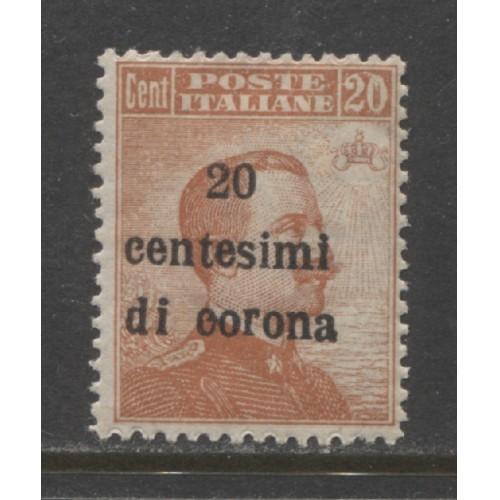 1919 Austria  20 c.  Italian issue with overprint  mint*, Scott # N68
