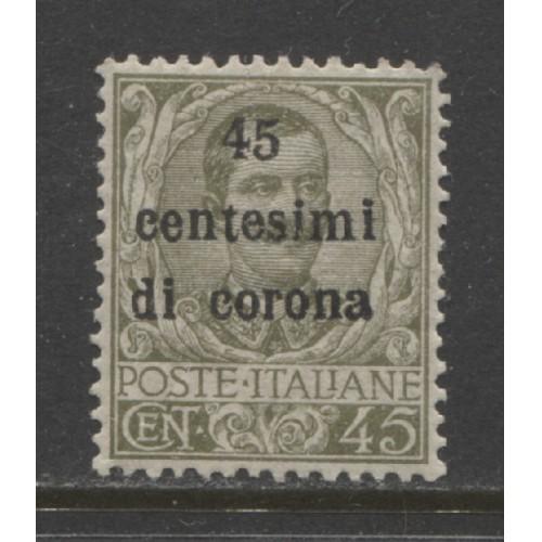 1919 Austria  45 c.  Italian issue with overprint  mint**, Scott # N71