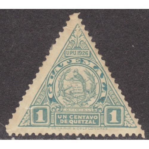 UNUSED GUATEMALA #O6 (1926)