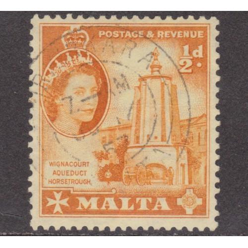 USED MALTA #247 (1956)