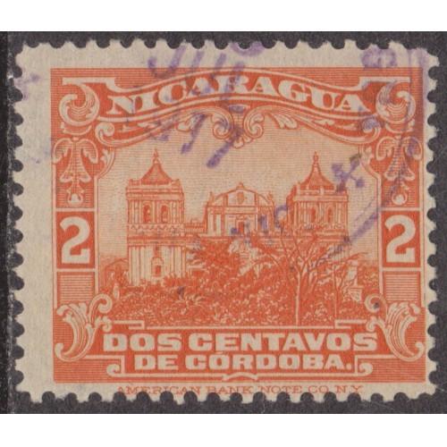 USED NICARAGUA #351 (1914)