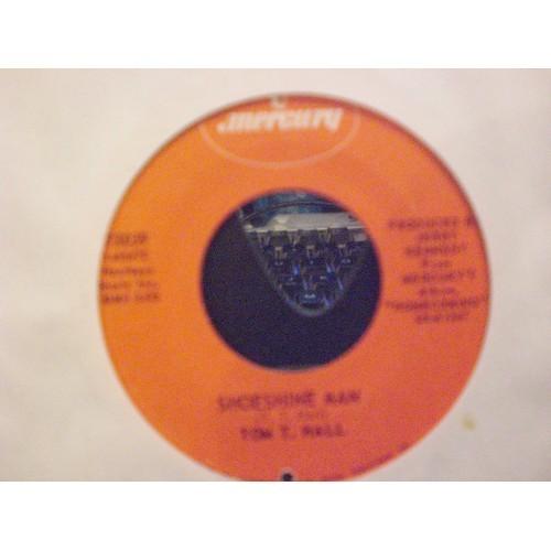 45 RPM: #5030.. TOM T. HALL - SHOESHINE MAN & KENTUCKY IN THE MORNING / MERCURY