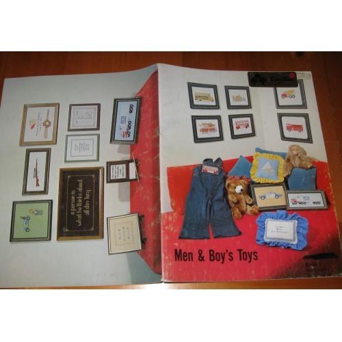 MEN & BOY'S TOYS   CROSS STITCH   LEAFLET/BOOK ONLY