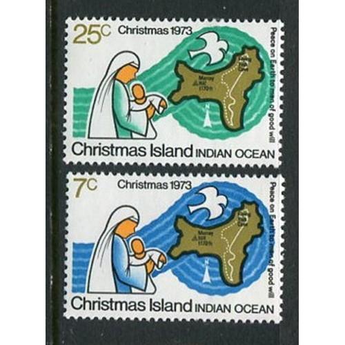 Christmas Island #59-60 Mint HInged