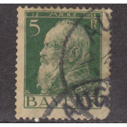 USED BAVARIA (GERMAN STATE) #78 (1911) WHITE PAPER ERROR?