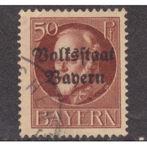 USED BAVARIA (GERMAN STATE) #146 (1919)