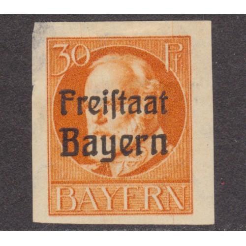 UNUSED BAVARIA (GERMAN STATE) #219 (1919-1920)