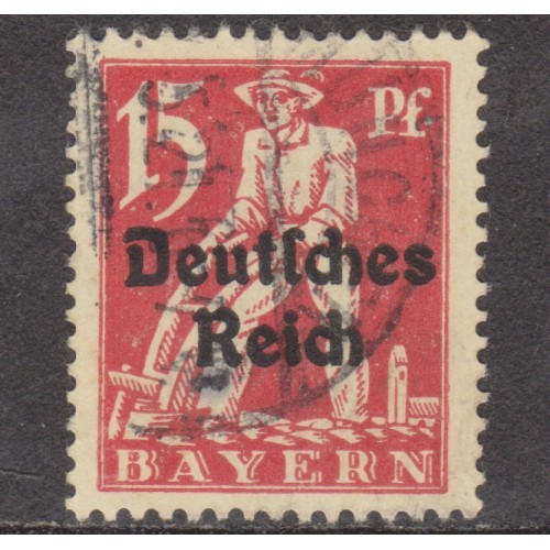USED BAVARIA (GERMAN STATE) #258 (1920)