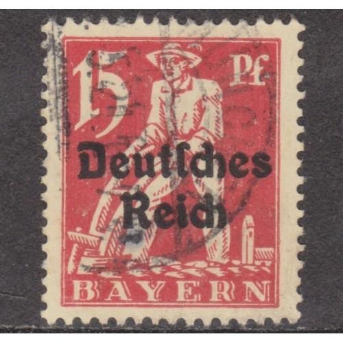 USED BAVARIA (GERMAN STATE) #258 (1920)