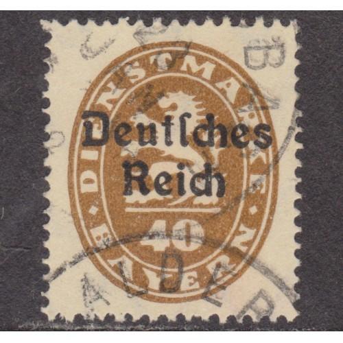 USED BAVARIA (GERMAN STATE) #O57 (1920)