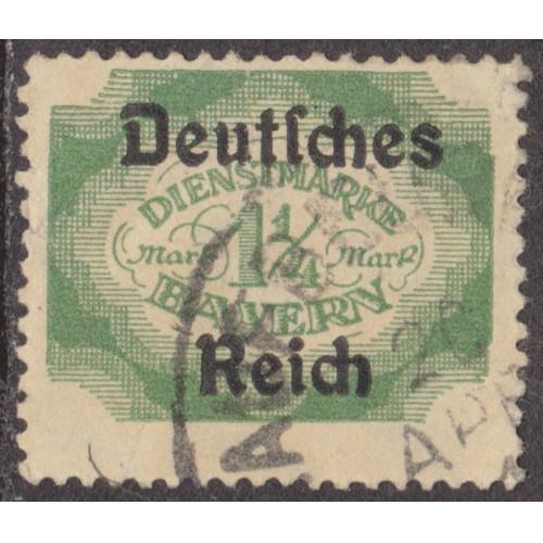 USED BAVARIA (GERMAN STATE) #O65 (1920)