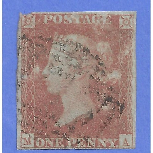 GREAT  BRITAIN # 3 USED  PART MALTESE CROSS CANCEL     M 1900