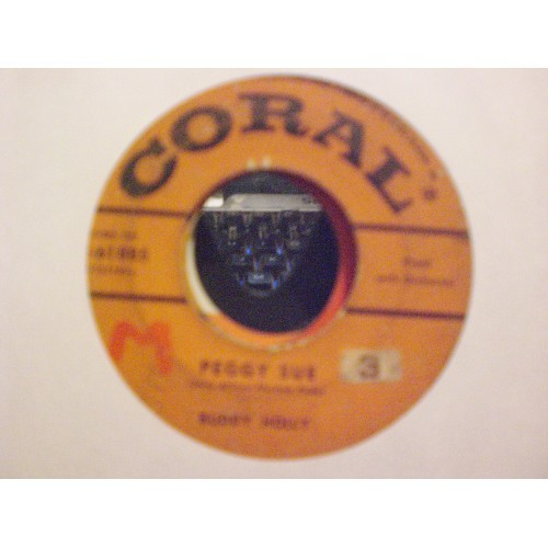 45 RPM ROCK: #5259.. BUDDY HOLLY - PEGGY SUE & EVERYDAY / CORAL 9-61885 / VG ..