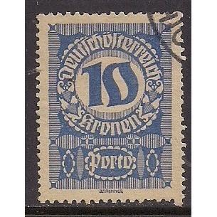 (AU) Austria Sc# J91 Used