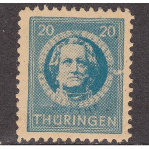 UNUSED GERMANY (THURINGIA) #16N7 (1945)