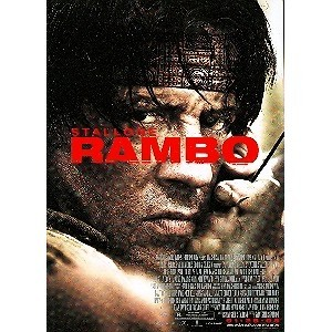Postcard from the movie Rambo