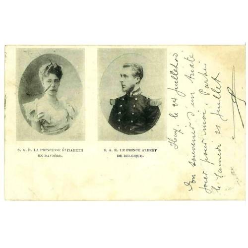 BELGIUM - wedding Albert I and Elisabeth (cousin Sissi)