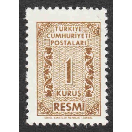 Turkey - Scott #O76 MH (2)
