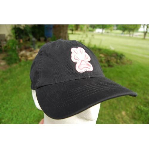 Southern Illinois Carbondale Salukis Black Cap Hat Pink White Paw Print Logo