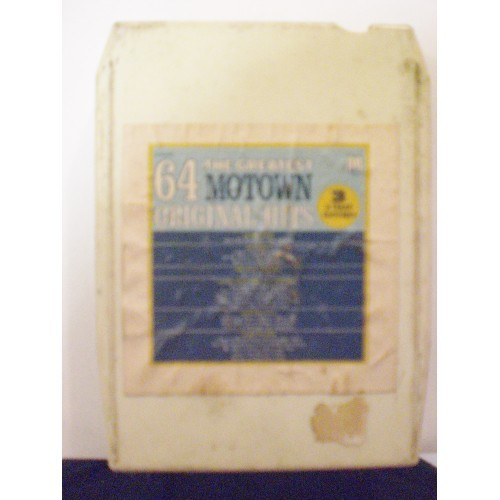 USED 8 TRACK: #299.. VARIOUS ARTISTS - THE GREATEST 64 MOTOWN ORIGINAL HITS TAPE