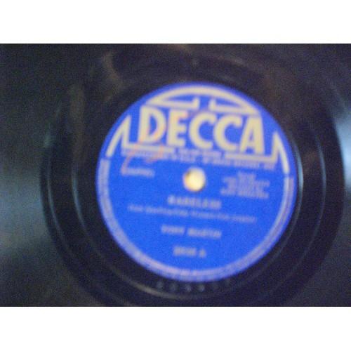 78 RPM: #1877.. TONY MARTIN - CARELESS & INDIAN SUMMER / DECCA 2936 / VG+