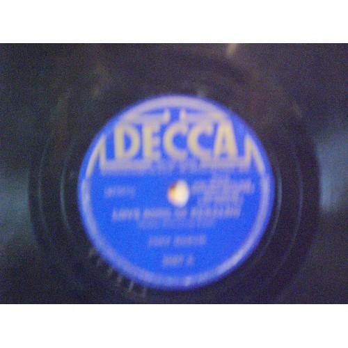 78 RPM: #1878.. TONY MARTIN - LOVE SONG OF RENALDO & A YOUNG MAN SINGS / DECCA