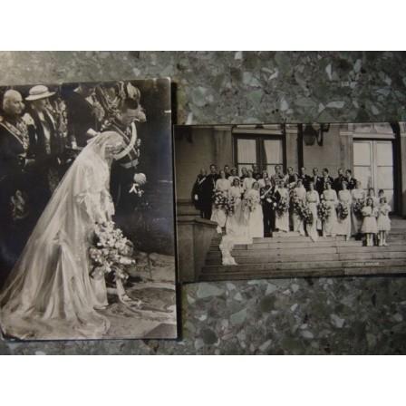 NETHERLANDS - Royal Wedding 1937 ~2 postcards~