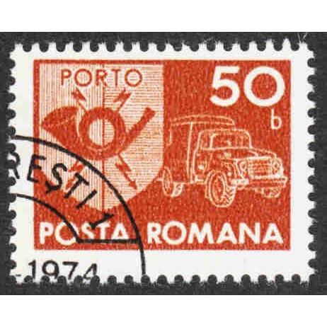 Romania - Scott #J137 CTO - No Gum  - Single - Customer Copy