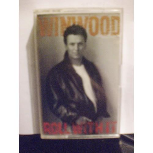 USED CASSETTE TAPE: #549.. STEVE WINWOOD - ROLL WITH IT / VIRGIN 90946