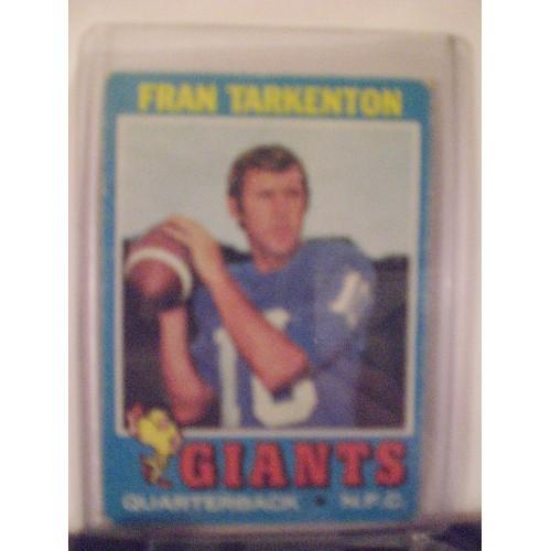 FOOTBALL CARD: 1971 TOPPS #120 (b) FRAN TARKENTON VG