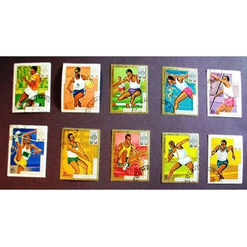 "1968  Burundi  ""Olympics-Mexico""  Stamps"