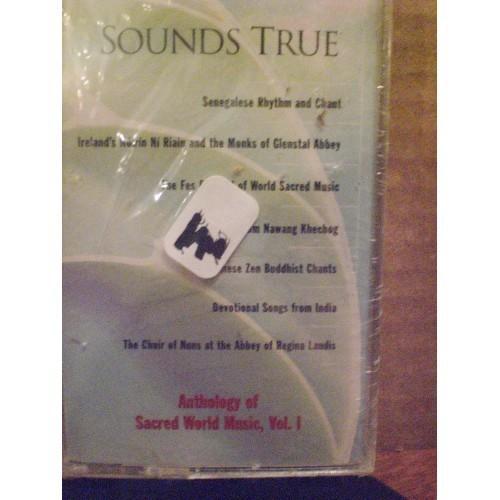 SEALED CASSETTE:  #160.. SOUNDS TRUE - ANTHOLOGY OF SACRED WORLD MUSIC VOL 1 /