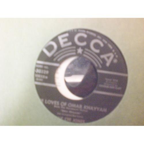 45 RPM: #6149.. KAY CEE JONES - THE LOVES OF OMAR KHAYYAM & YOU I LOVE / DECCA
