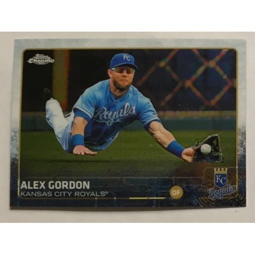 2015 Topps Chrome - #30 Alex Gordon