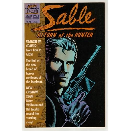 1988 Sable: Return Of The Hunter Comic # 1 – VF+