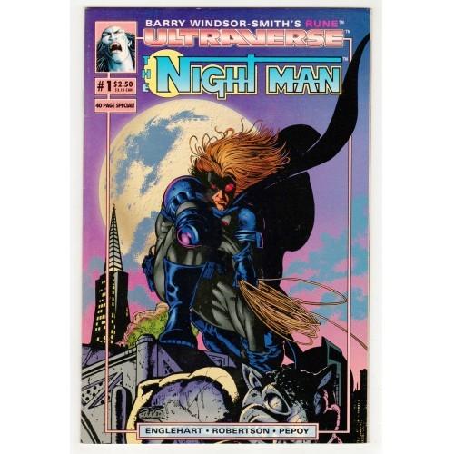 1993 The Night Man / Rune Flip Book Comic # 1 – FN+