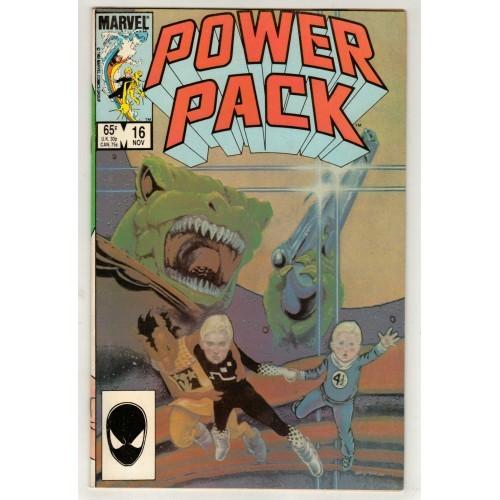 1985 Power Pack Comic # 16 – FN+